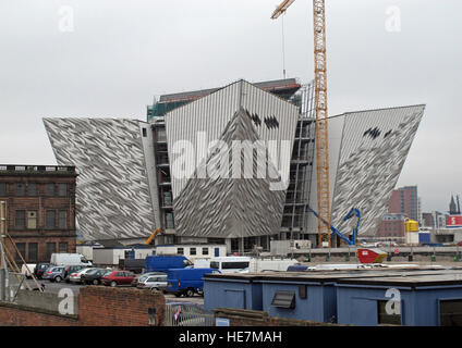 New White Star Titanic Quarter Museum, under construction May 2011, Belfast, Northern Ireland,UK - Stock Photo