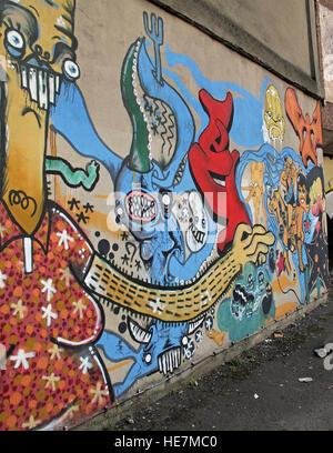 Graffiti near Belfast Garfield St,City Centre, Northern Ireland, UK - Stock Photo