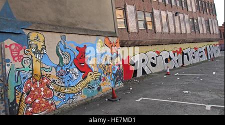 Belfast Graffiti near Garfield St        City Centre, Northern Ireland, UK - Stock Photo