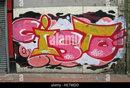Belfast Street Art, Garfield St        City Centre, Northern Ireland, UK - Stock Photo