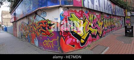 Belfast Garfield St graffiti,panorama,City Centre, Northern Ireland, UK - Stock Photo