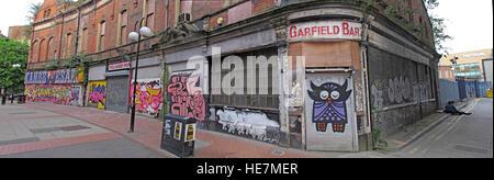 Belfast Garfield St pano       City Centre, Northern Ireland, UK - Stock Photo