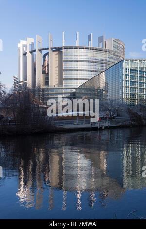 The European Parliament Building Strasbourg - Stock Photo