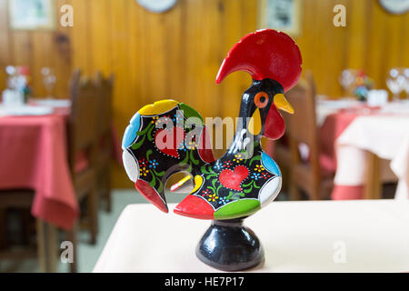 Galo de Barcelos (Rooster of Barcelos) is one of the most common emblems of Portugal - Stock Photo