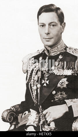 George VI, 1895 – 1952.  King of the United Kingdom and the Dominions of the British Commonwealth. - Stock Photo