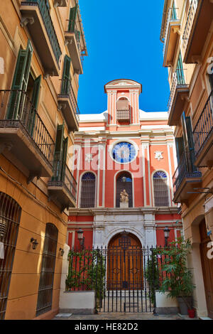 Small church in a side street in the center of Malaga. Andalucia, Spain - Stock Photo