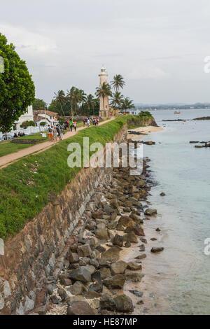 GALLE, SRI LANKA - DECEMBER 09, 2016 :Area near lighthouse, fort Galle, Sri Lanka - Stock Photo