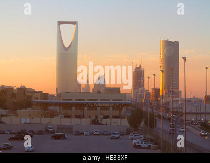 RIYADH - MARCH 01: View of Riyadh downtown on March 01, 2016 in Riyadh, Saudi Arabia. - Stock Photo