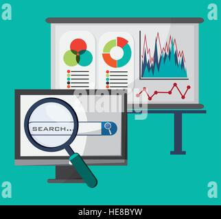office network search strategy buisness - Stock Photo