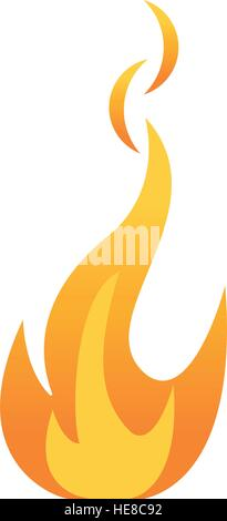 fire flame bright danger icon - Stock Photo