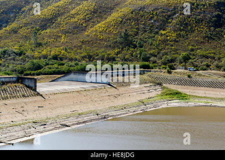 Water Reservoirs Loerie Dam Water Level 2016-12-16 - Stock Photo