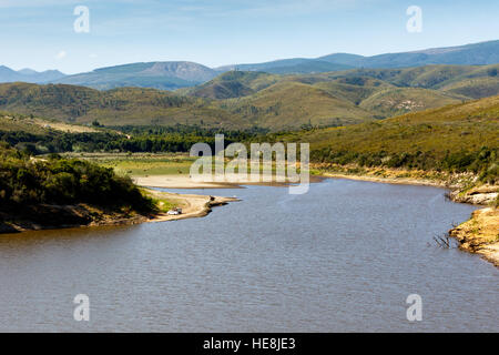 Super low water levels at The Loerie Dam Nature Reserve 2016-12-16 - Stock Photo