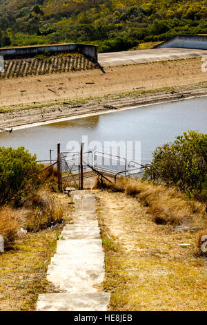 Port Elizabeth Water Reservoirs at a all time low. - Stock Photo