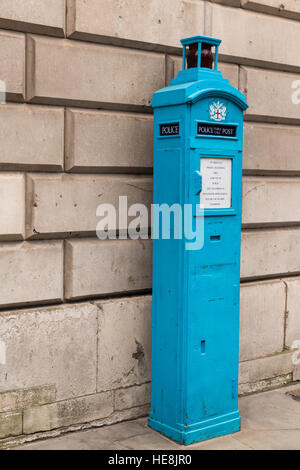Old Police Public Call Post in the City of London - not in use - Stock Photo