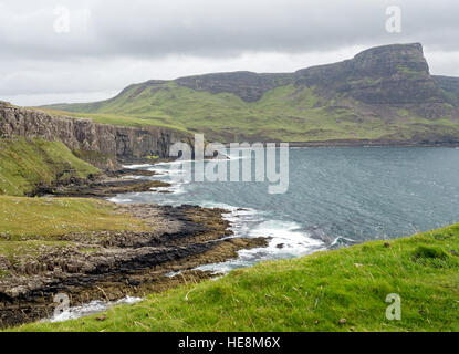 View at Neist Point overlooking The Little Minch - Stock Photo