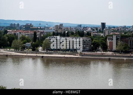 Danube river in Novi Sad - Stock Photo