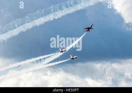Members of the U.S. Air Force Thunderbirds perform precision maneuvers during Joint Base Elmendorf-Richardson's - Stock Photo