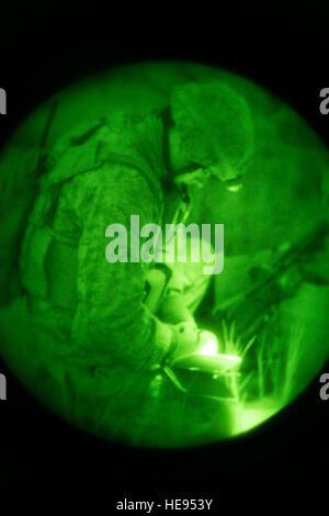 131008-F-WU507-229: U.S. Marine Capt. Chris Walker, 1st Air Naval Gunfire Liaison Company Supporting Arms Liaison - Stock Photo