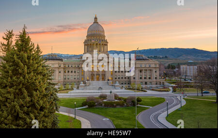 Idaho state capital in the early morning - Stock Photo
