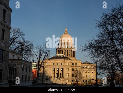Capital of Idaho in the morning light - Stock Photo
