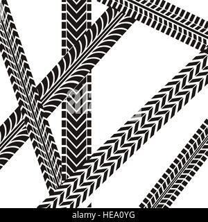tire tracks mark isolated icon vector illustration design - Stock Photo