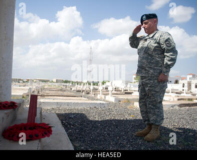 U.S. Army Lt. Col. James Toomey, United States Embassy to the Republic of Djibouti senior defense official and defense - Stock Photo