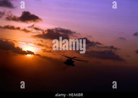 A U.S. Marine Corps CH-53 Sea Stallion, assigned to Marine Heavy Helo Squadron 464, based at Marine Corps Air Station, - Stock Photo