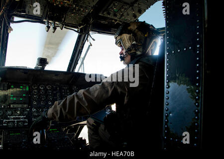 U.S. Marine Corps Capt. Christopher Reed, Marine Heavy Helicopter Squadron (HMH) 462, Marine Corps Station Miramar, - Stock Photo