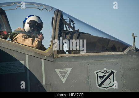 Spanish navy pilot Lt. Joaquin Fernandez de los Rios attached to Marine Attack Squadron 214 'Black Sheep,' Marine - Stock Photo