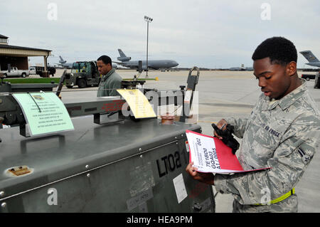 121027-F-UU335-034     JOINT BASE MCGUIRE-DIX-LAKEHURST, N.J. Airman 1st Class Marquis Cole, 305th Aerial Support - Stock Photo