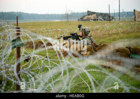 U.S. Army Staff Sgt. Brandon Collins, 2-44 Air Defense Artillery Battalion, Battle Battery, Fort Campbell, Ky., - Stock Photo