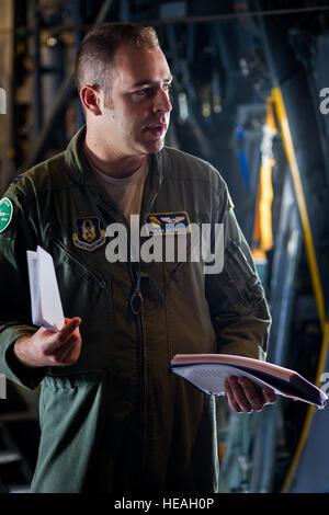 U.S. Air Force Capt. Brian Metzger, C-130 Hercules pilot with the 94th Airlift Wing, Dobbins Air Reserve Base, Ga., - Stock Photo
