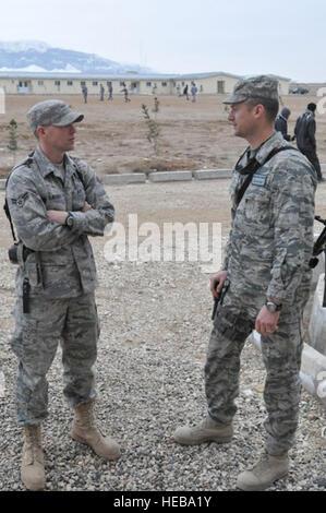 BALKH PROVINCE, Afghanistan – U.S Air Force Airman 1st Class Jordan DeJesus, a logistics mentor for Regional Command - Stock Photo