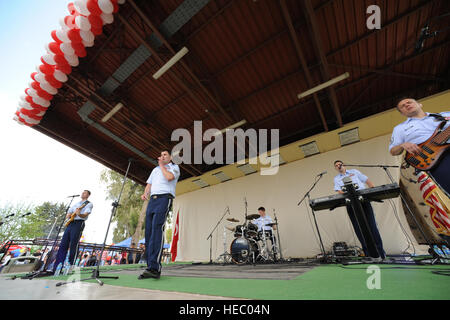U.S. Air Forces in Europe rock band Touch 'n Go, performs during a Children's Day festival April 22, 2012, at Incirlik - Stock Photo