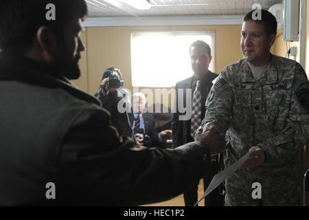 100221-F-7367Y-029   KABUL-U.S. Army Lt. Col. David Hylton, director of public affairs, NATO Training Mission Afghanistan - Stock Photo