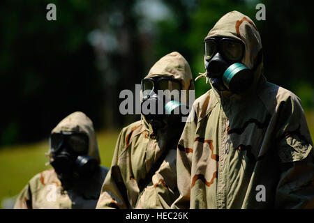 U.S. Soldiers with the 108th Chemical Battalion, 218th Maneuver Enhancement Brigade, South Carolina Army National - Stock Photo
