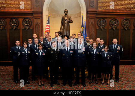 PHILADELPHIA, Penn. -- The Armed Services Council of the Union League of Philadelphia celebrates the 63rd birthday - Stock Photo
