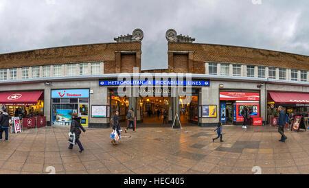 Uxbridge Underground Station in North West London, UK - Stock Photo