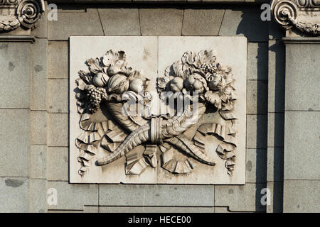 Close up detail of La Puerta De Alcala arch, Madrid, Spain. - Stock Photo