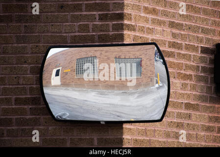 Wide angle mirror - Stock Photo