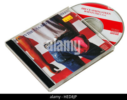 Bruce Springsteen Born in the USA CD - Stock Photo