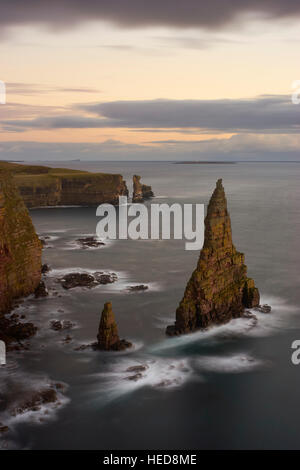 Stacks of Duncansby, Caithness, Scotland - Stock Photo