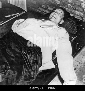 HERMANN GOERING (1893-1946) German military leader after committing suicide by swallowing potassium cyanide in his - Stock Photo