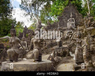 Buddha statues in Magic Garden or Secret Buddha Garden, Koh Samui, Thailand - Stock Photo