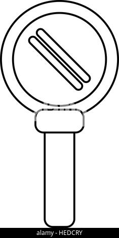 search loupe magnifier tehcnology outline - Stock Photo