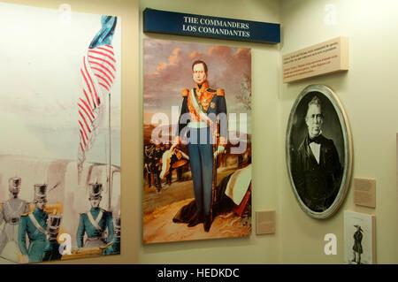 Visitors Center display, Palo Alto Battlefield National Historic Park, Texas - Stock Photo