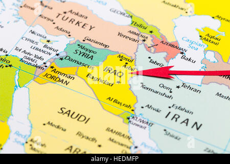iraq map atlas map of the world political illustration flag
