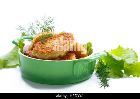 vegetable cutlets with cabbage - Stock Photo