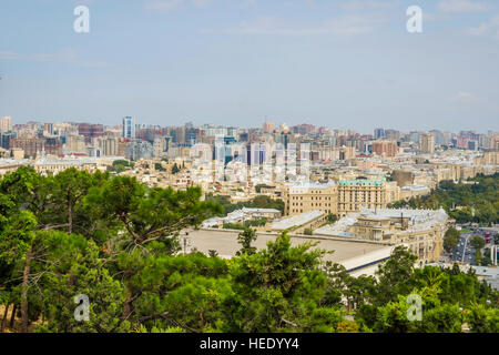 View over Baku downtown skyline, Azerbaijan - Stock Photo