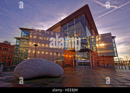 The Bridgewater Concert Hall, Manchester City Centre, Manchester, Greater Manchester, England. - Stock Photo
